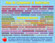 Explore the confusing symptoms of RAD and DSED. Map created by OrchardHumanServices.org with ParentBlog.org and DarleenClaire.com to give parents a tool to make sense out of the chaos of attachment disorder.